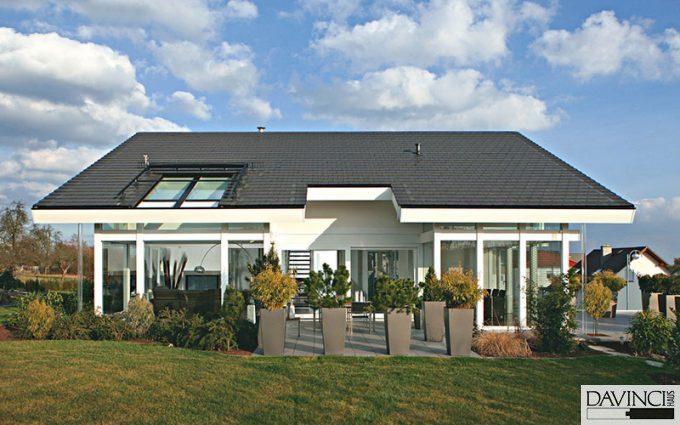 elegantes pultdachhaus in lich davinci haus. Black Bedroom Furniture Sets. Home Design Ideas